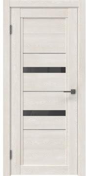 Межкомнатная дверь RM010 (экошпон «белый дуб» / стекло графит) — 0112