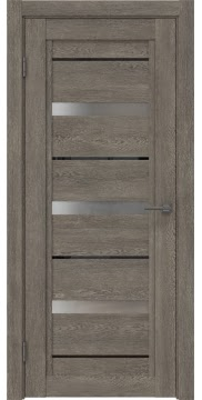 Межкомнатная дверь RM011 (экошпон «серый дуб» / матовое стекло) — 0128