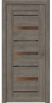 Межкомнатная дверь RM011 (экошпон «серый дуб» / стекло бронзовое) — 0129