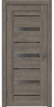 Межкомнатная дверь RM011 (экошпон «серый дуб» / стекло графит) — 0130