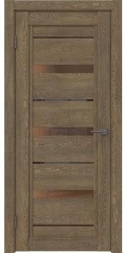 Межкомнатная дверь RM011 (экошпон «дуб антик» / стекло бронзовое) — 0123