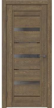 Межкомнатная дверь RM011 (экошпон «дуб антик» / стекло графит) — 1010