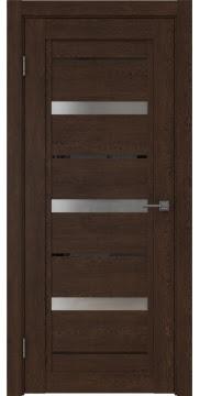 Межкомнатная дверь RM011 (экошпон «дуб шоколад» / матовое стекло) — 0131
