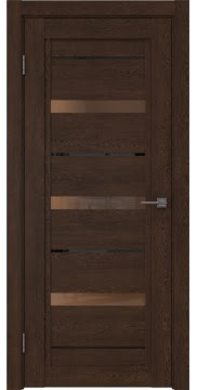 Межкомнатная дверь RM011 (экошпон «дуб шоколад» / стекло бронзовое) — 0132