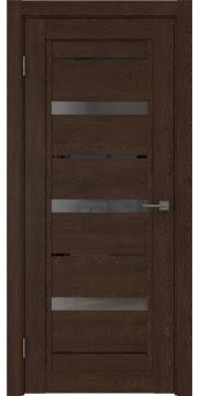 Межкомнатная дверь RM011 (экошпон «дуб шоколад» / стекло графит) — 0133