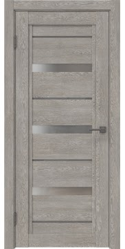 Межкомнатная дверь RM011 (экошпон «дымчатый дуб» / матовое стекло) — 0134