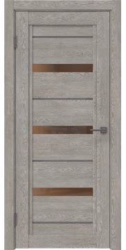 Межкомнатная дверь RM011 (экошпон «дымчатый дуб» / стекло бронзовое) — 1011