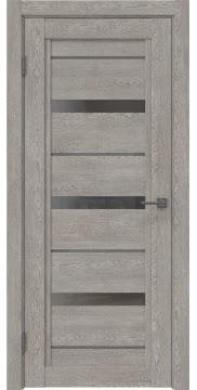 Межкомнатная дверь RM011 (экошпон «дымчатый дуб» / стекло графит) — 0136