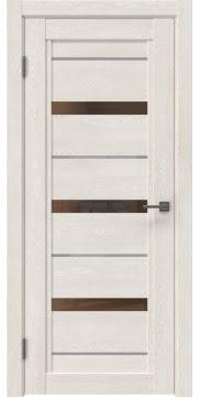 Межкомнатная дверь RM011 (экошпон «белый дуб» / стекло бронзовое) — 0126