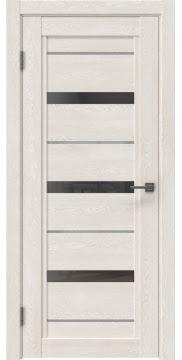 Межкомнатная дверь RM011 (экошпон «белый дуб» / стекло графит) — 0127