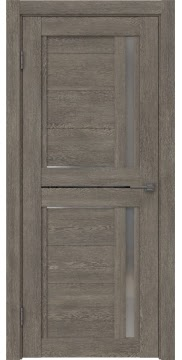 Межкомнатная дверь RM012 (экошпон «серый дуб» / матовое стекло) — 0143