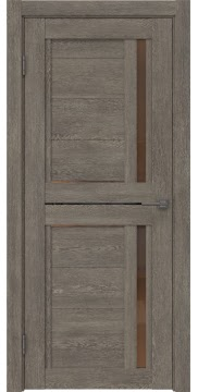 Межкомнатная дверь RM012 (экошпон «серый дуб» / стекло бронзовое) — 0144