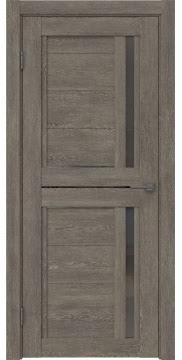 Межкомнатная дверь RM012 (экошпон «серый дуб» / стекло графит) — 0145