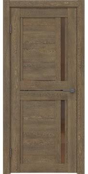 Межкомнатная дверь RM012 (экошпон «дуб антик» / стекло бронзовое) — 0138