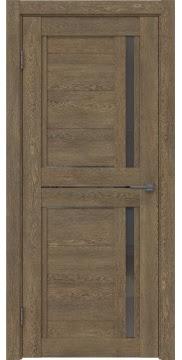 Межкомнатная дверь RM012 (экошпон «дуб антик» / стекло графит) — 1012