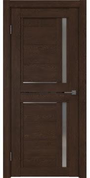 Межкомнатная дверь RM012 (экошпон «дуб шоколад» / матовое стекло) — 0146