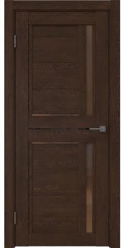 Межкомнатная дверь RM012 (экошпон «дуб шоколад» / стекло бронзовое) — 0147
