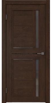 Межкомнатная дверь RM012 (экошпон «дуб шоколад» / стекло графит) — 1013