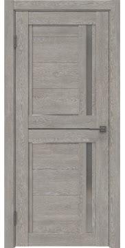 Межкомнатная дверь RM012 (экошпон «дымчатый дуб» / матовое стекло) — 0149