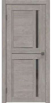 Межкомнатная дверь RM012 (экошпон «дымчатый дуб» / стекло графит) — 0151