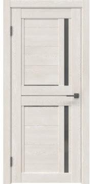 Межкомнатная дверь, RM012 (экошпон белый дуб, матовое стекло)