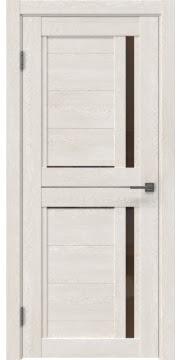 Межкомнатная дверь RM012 (экошпон «белый дуб» / стекло бронзовое) — 0141