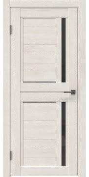 Межкомнатная дверь RM012 (экошпон «белый дуб» / стекло графит) — 0142