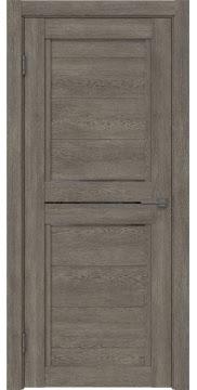 Межкомнатная дверь RM013 (экошпон «серый дуб» / стекло графит) — 0160