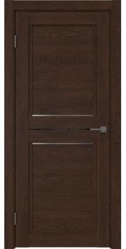 Межкомнатная дверь RM013 (экошпон «дуб шоколад» / матовое стекло) — 0161