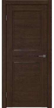 Межкомнатная дверь RM013 (экошпон «дуб шоколад» / стекло графит) — 0163