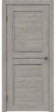 Межкомнатная дверь RM013 (экошпон «дымчатый дуб» / стекло графит) — 0166