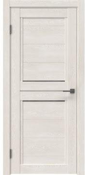 Межкомнатная дверь RM013 (экошпон «белый дуб» / стекло графит) — 0157