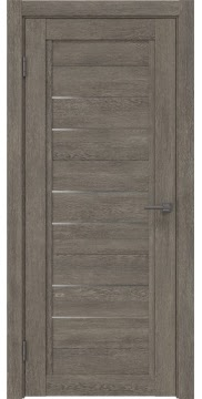 Межкомнатная дверь RM014 (экошпон «серый дуб» / матовое стекло) — 0173