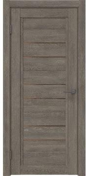 Межкомнатная дверь RM014 (экошпон «серый дуб» / стекло бронзовое) — 0174