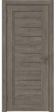 Межкомнатная дверь RM014 (экошпон «серый дуб» / стекло графит) — 0175
