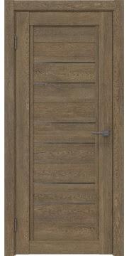 Межкомнатная дверь RM014 (экошпон «дуб антик» / стекло графит) — 1015