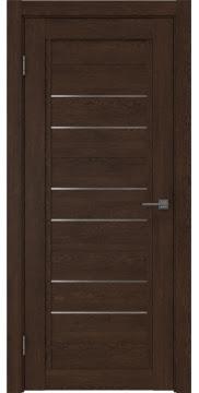 Межкомнатная дверь RM014 (экошпон «дуб шоколад» / матовое стекло) — 0176