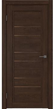 Межкомнатная дверь RM014 (экошпон «дуб шоколад» / стекло бронзовое) — 0177