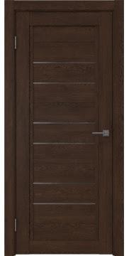 Межкомнатная дверь RM014 (экошпон «дуб шоколад» / стекло графит) — 0178
