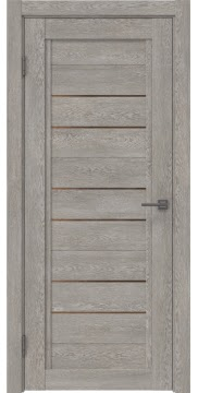 Межкомнатная дверь RM014 (экошпон «дымчатый дуб» / стекло бронзовое) — 1016