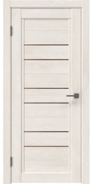 Межкомнатная дверь RM014 (экошпон «белый дуб» / стекло бронзовое) — 0171