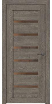Межкомнатная дверь RM015 (экошпон «серый дуб» / стекло бронзовое) — 0189