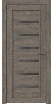 Межкомнатная дверь RM015 (экошпон «серый дуб» / стекло графит) — 0190