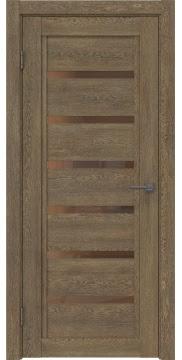Межкомнатная дверь RM015 (экошпон «дуб антик» / стекло бронзовое) — 0183