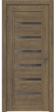 Межкомнатная дверь RM015 (экошпон «дуб антик» / стекло графит) — 0184