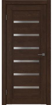 Межкомнатная дверь RM015 (экошпон «дуб шоколад» / матовое стекло) — 0191