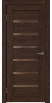 Межкомнатная дверь RM015 (экошпон «дуб шоколад» / стекло бронзовое) — 0192