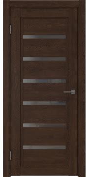 Межкомнатная дверь RM015 (экошпон «дуб шоколад» / стекло графит) — 0193
