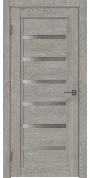 Межкомнатная дверь RM015 (экошпон «дымчатый дуб» / матовое стекло) — 0194