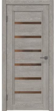 Межкомнатная дверь RM015 (экошпон «дымчатый дуб» / стекло бронзовое) — 0195